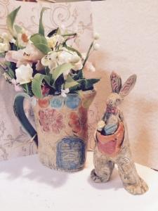 Caroline Zama Star Birds Pottery